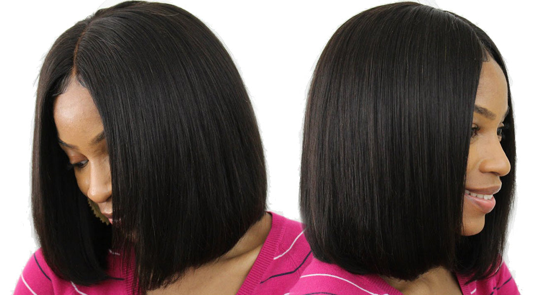 ms short straight bob wigs 150 density model show in description