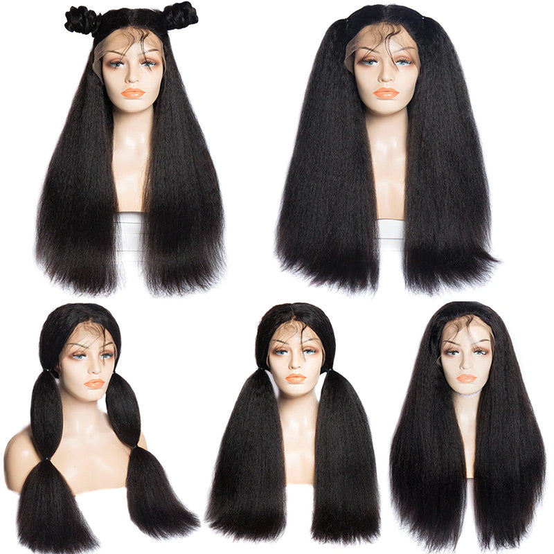 ms yaki straight lace front wigs 150 density hairstyles show in description
