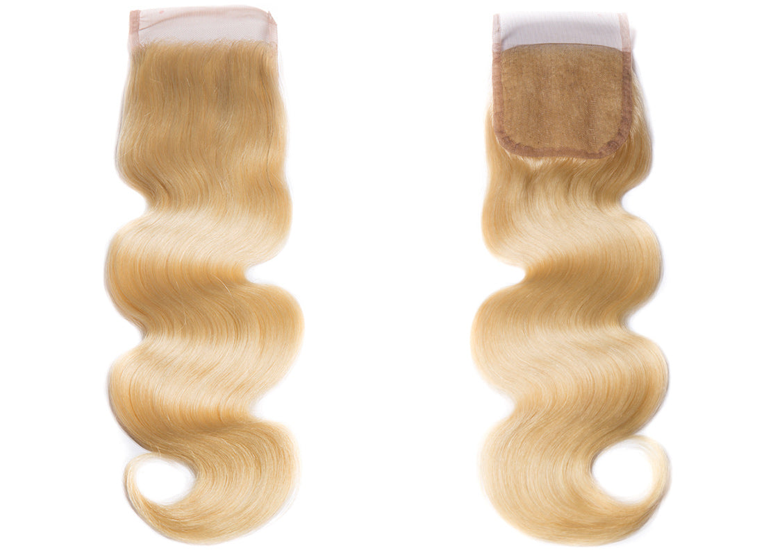 ms 613 blonde hair body wave 4x4 lace closure image in description