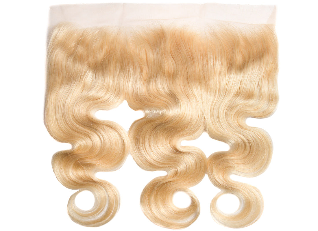 ms 613 blonde color body wave lace frontal image in description