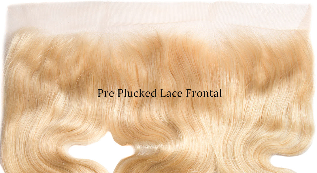 ms 613 blonde color body wave lace frontal  up image in description