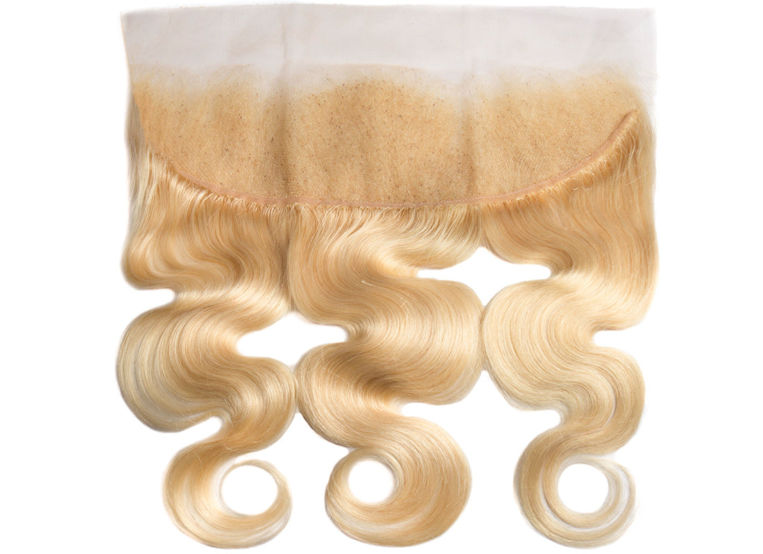 ms 613 blonde color body wave lace frontal lace part image in description