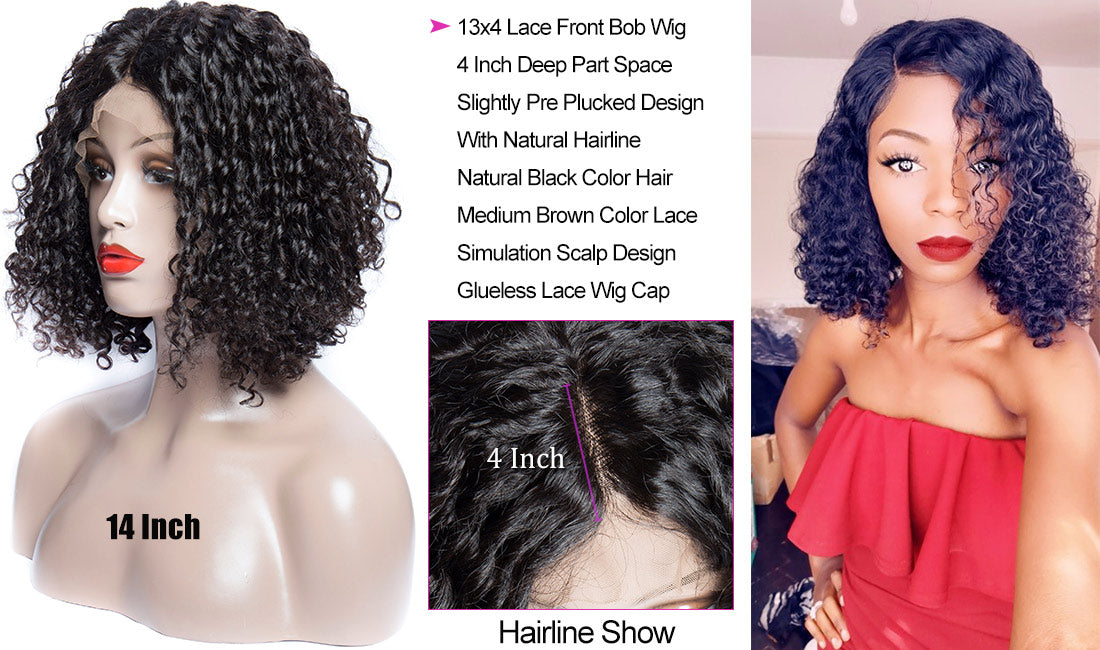 ms hair curly bob wigs hairline show in description
