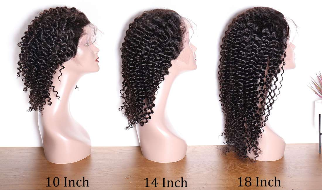 ms hair deep wave curly 13x4 lace front wigs different length show in description