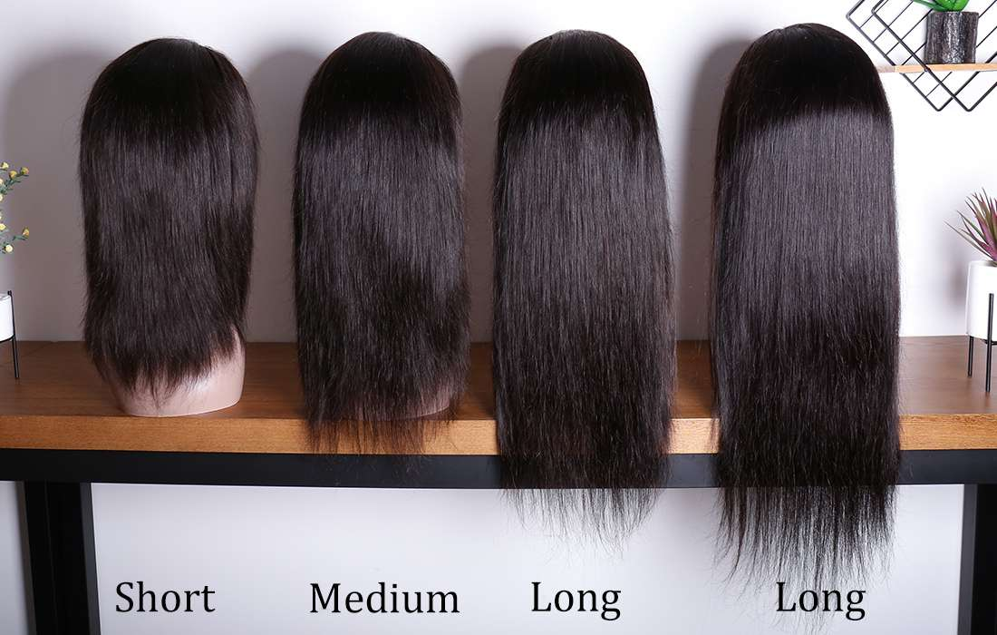 ms hair straight 13x4 lace front wigs different length back show in description