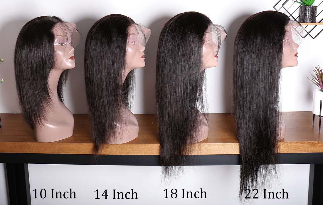 ms hair straight 13x4 lace front wigs different length show in description