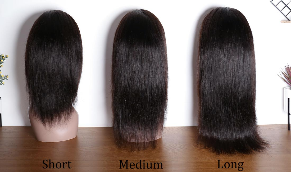 ms hair straight 360 lace wigs different length back show in description