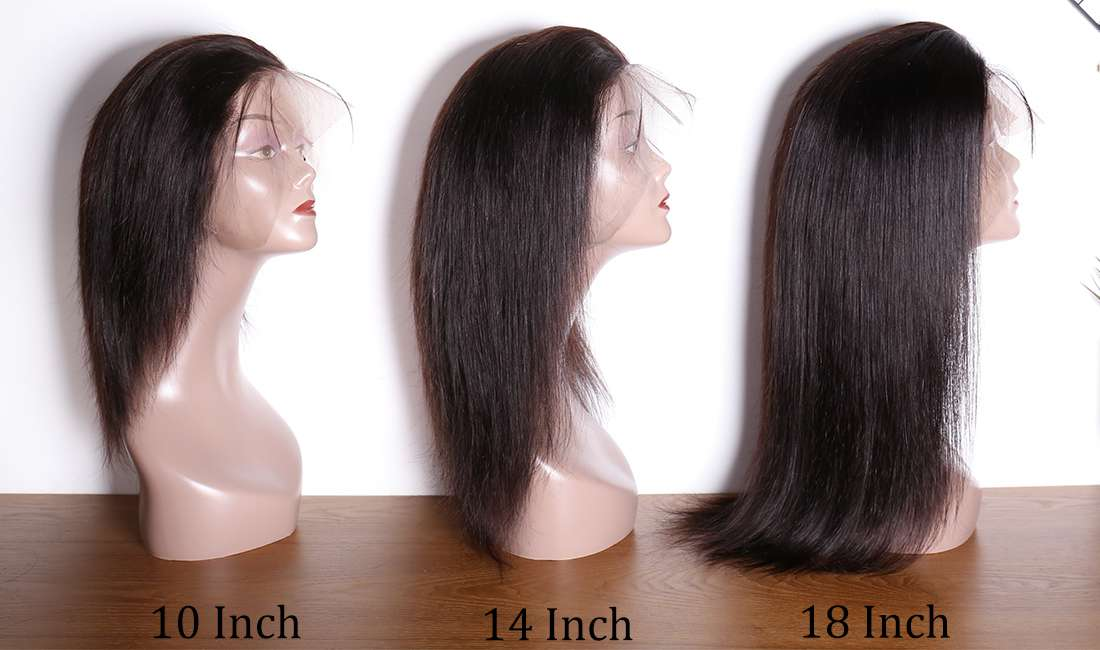 ms hair straight 360 lace wigs different length show in description
