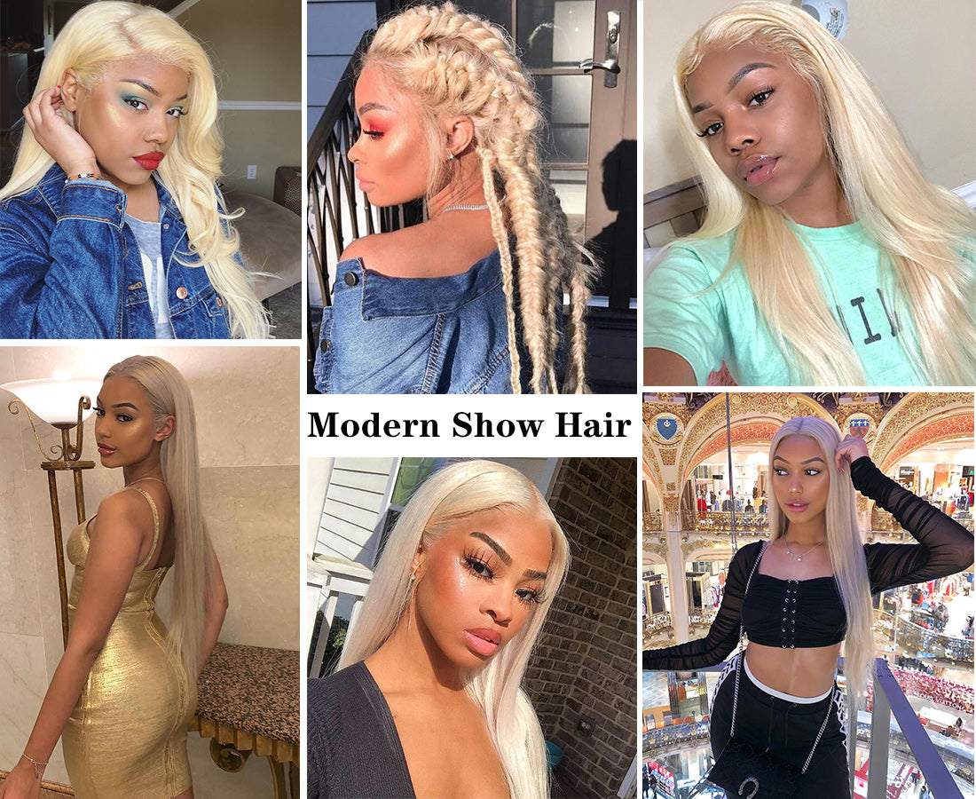ms hair blonde color #613 straight hair bundles customer share in description