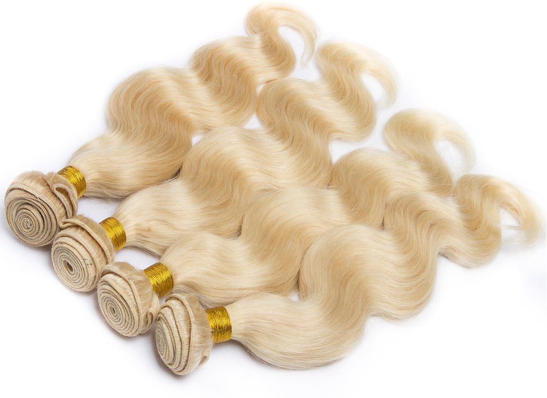 ms 613 blonde color body wave hair bundles 4pcs show in description