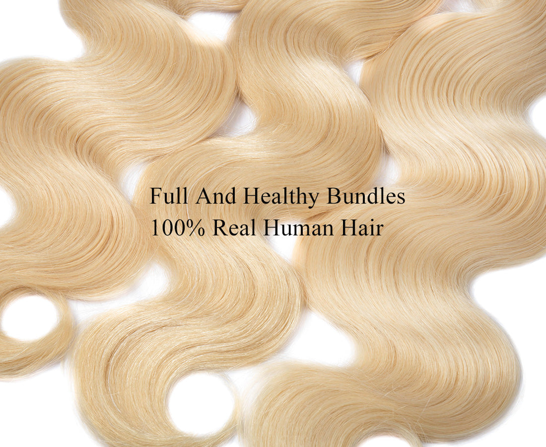 ms 613 blonde color body wave hair bundles 3 pcs hair material show in description