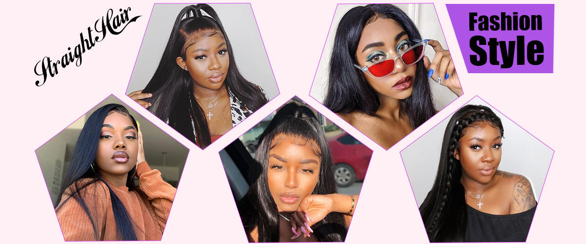 ms hair straight lace frontal wigs hair model show in description