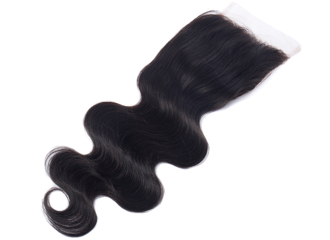ms remy hair body wave 5x5 lace closure image flat show in description