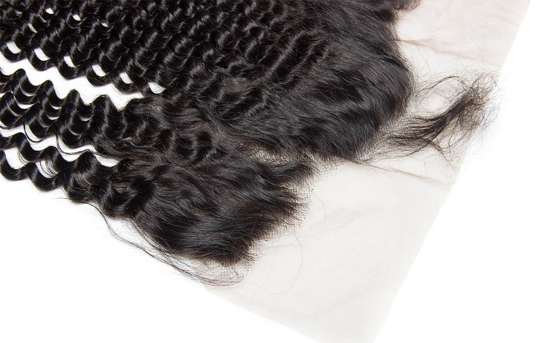 ms remy hair curly 13x6 lace frontal closure image baby hair show in description