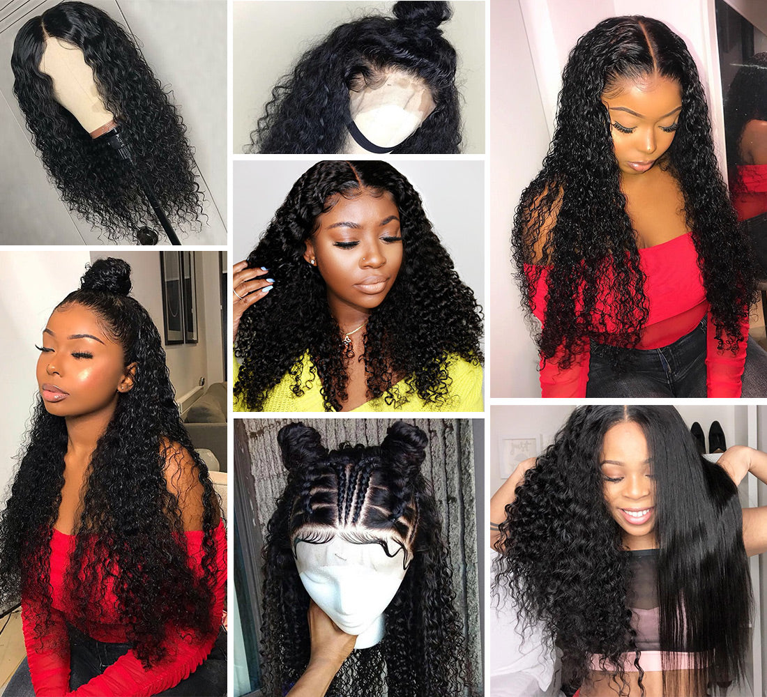 ms remy hair curly 13x6 lace frontal closure customer share image in description