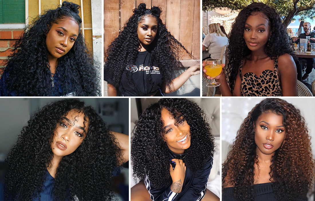 ms remy hair curly 13x6 lace frontal closure customer show image in description