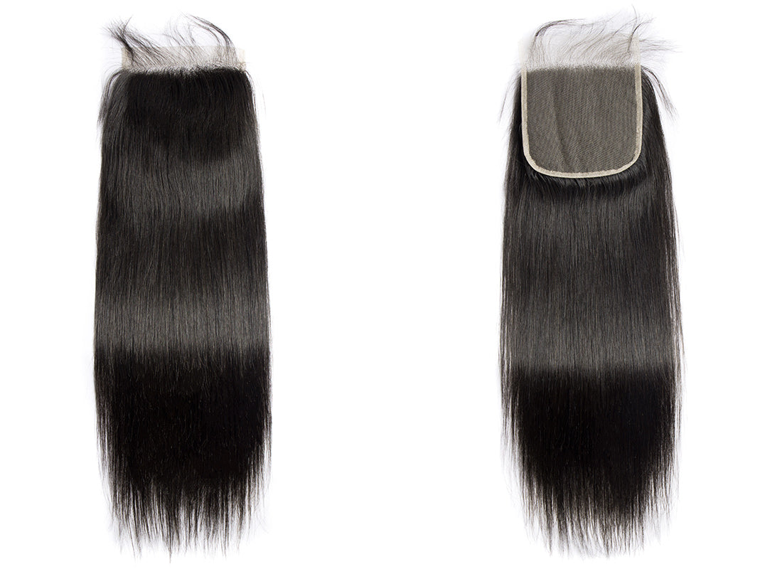 ms remy human hair straight 5x5 lace closure image show in description