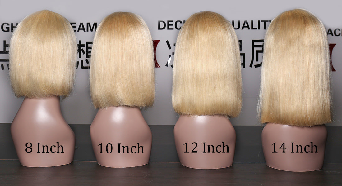 ms hair #613 straight bob wigs different length back show in description