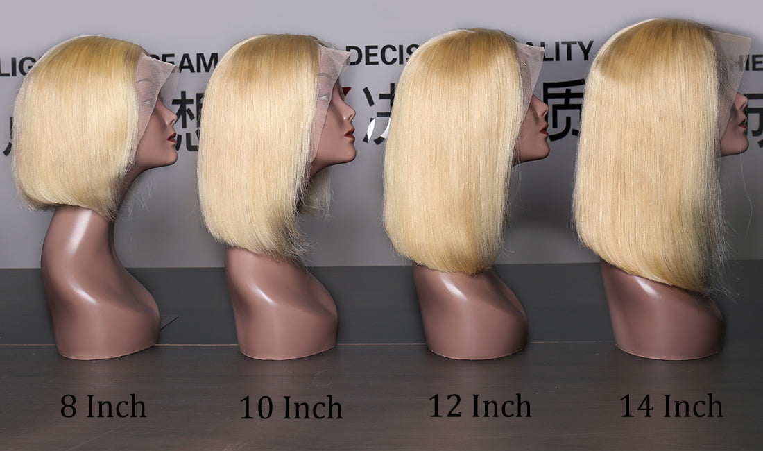 ms hair #613 straight bob wigs different length show in description