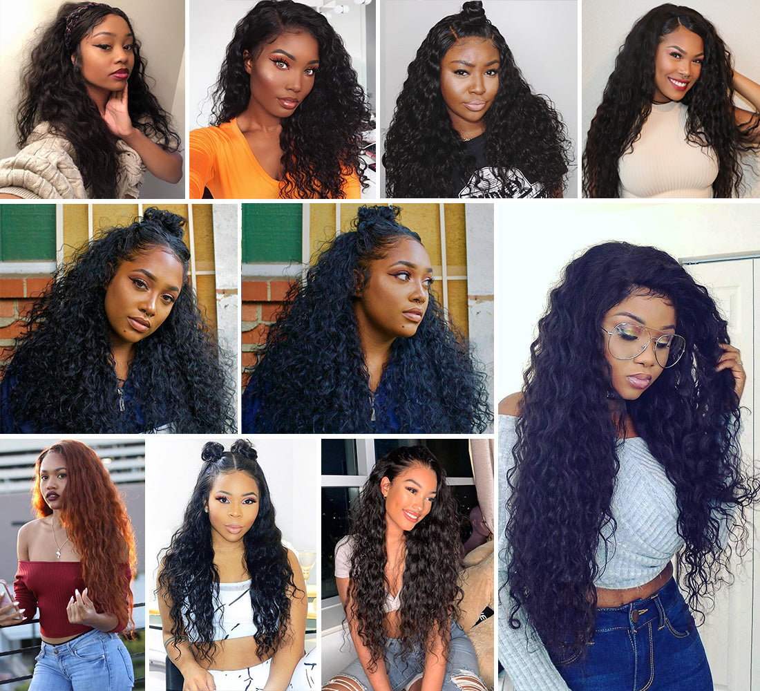 ms remy hair water wave 13x6 lace frontal closure image customer sharein description