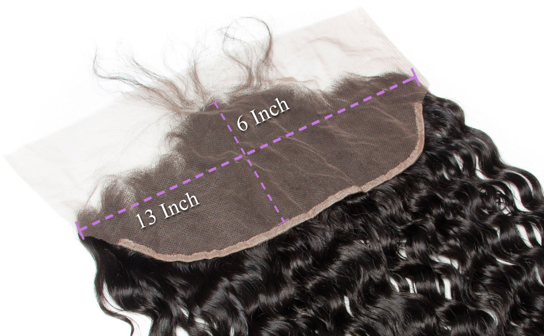 ms remy hair water wave 13x6 lace frontal closure image lace size show in description