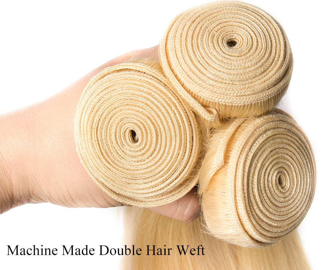 ms hair blonde color #613 straight hair bundles hair weft in description