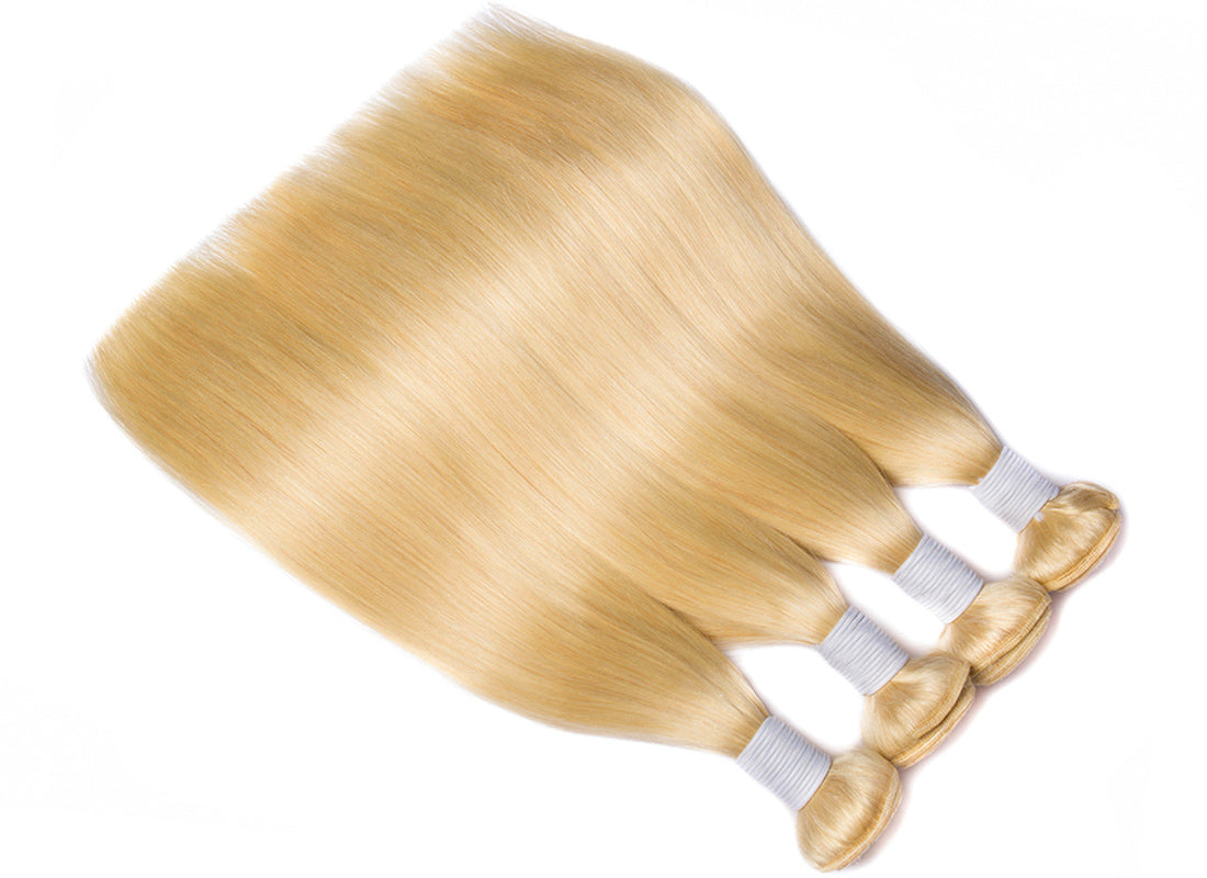 ms hair blonde color #613 straight hair 4 bundles in description
