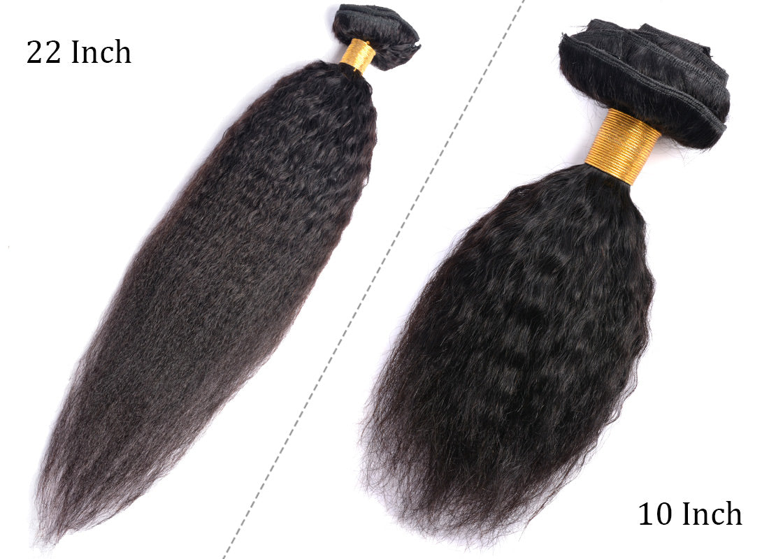 MS hair yaki straight human hair clips in hair extensions 10 inch and 22 inch bulk in description