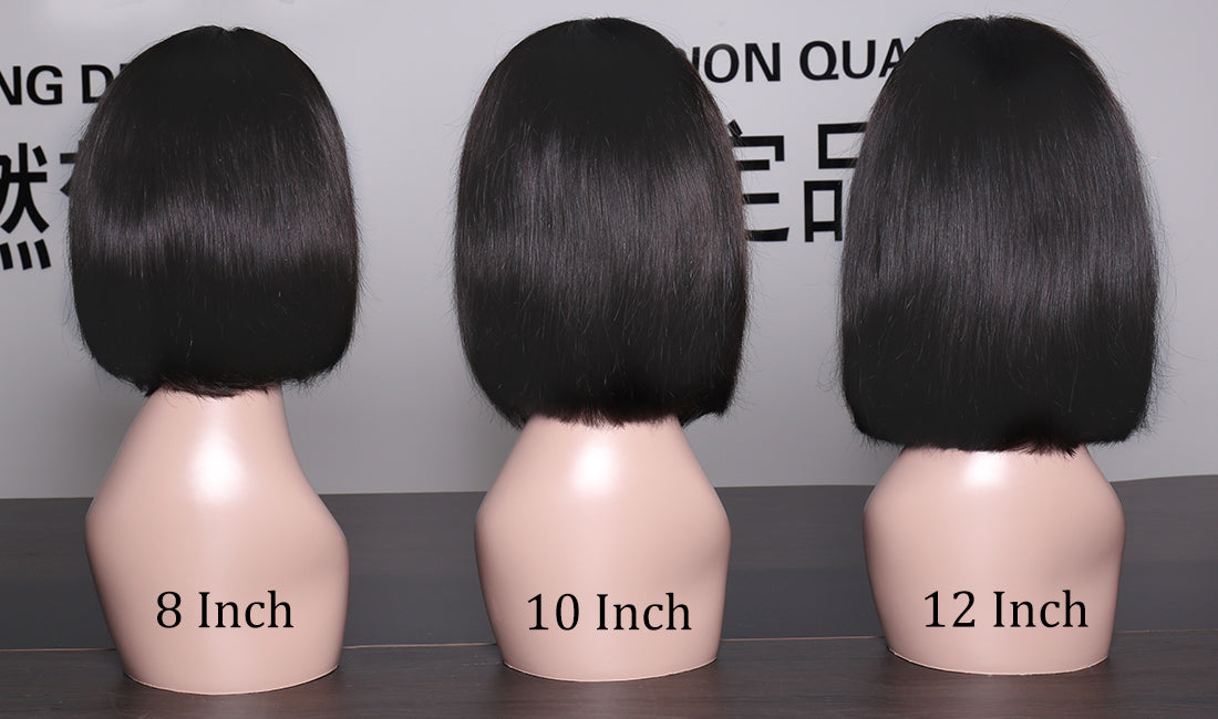 ms straight bob wigs different length back show in description