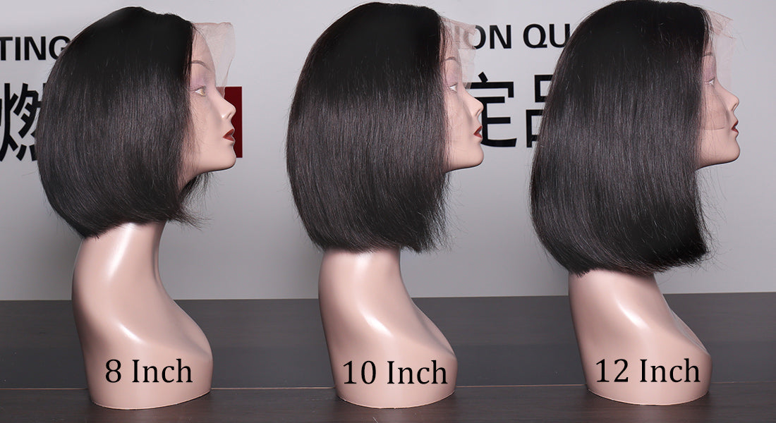 ms straight bob wigs different length show in description