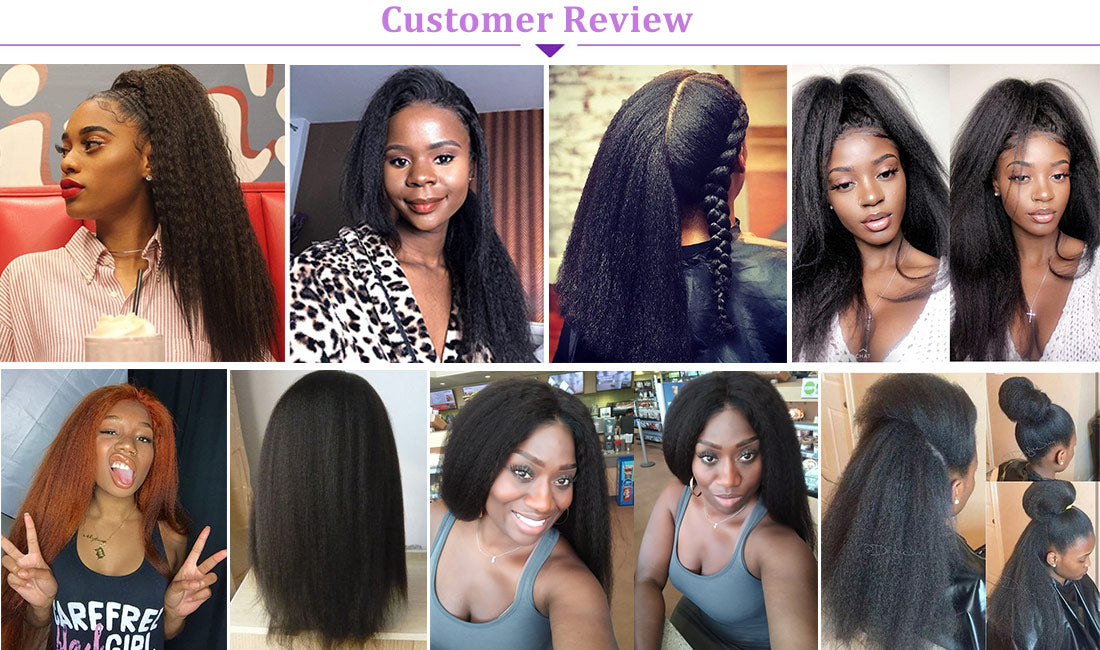 ms yaki straight lace front wigs 150 density customer show in description