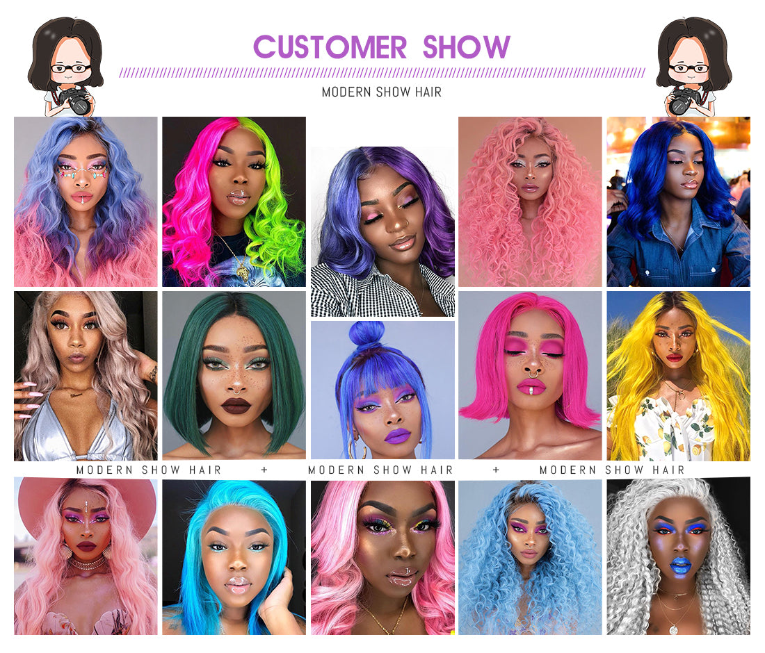 synthetic lace wigs featured colored synthetic wigs customer show in description