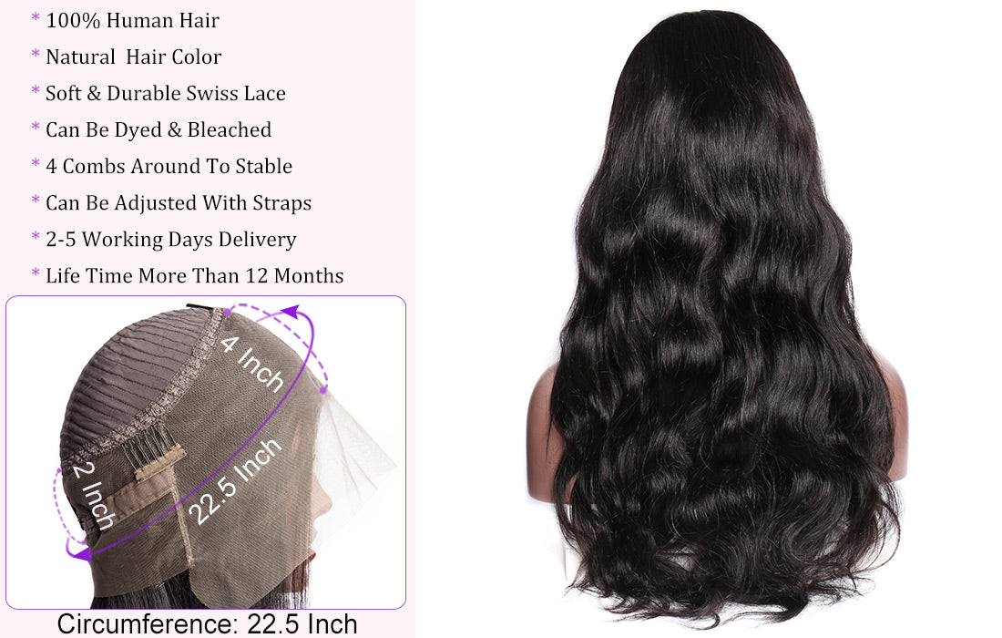 ms hair body wave 360 lace wigs new lace wig cap show in description