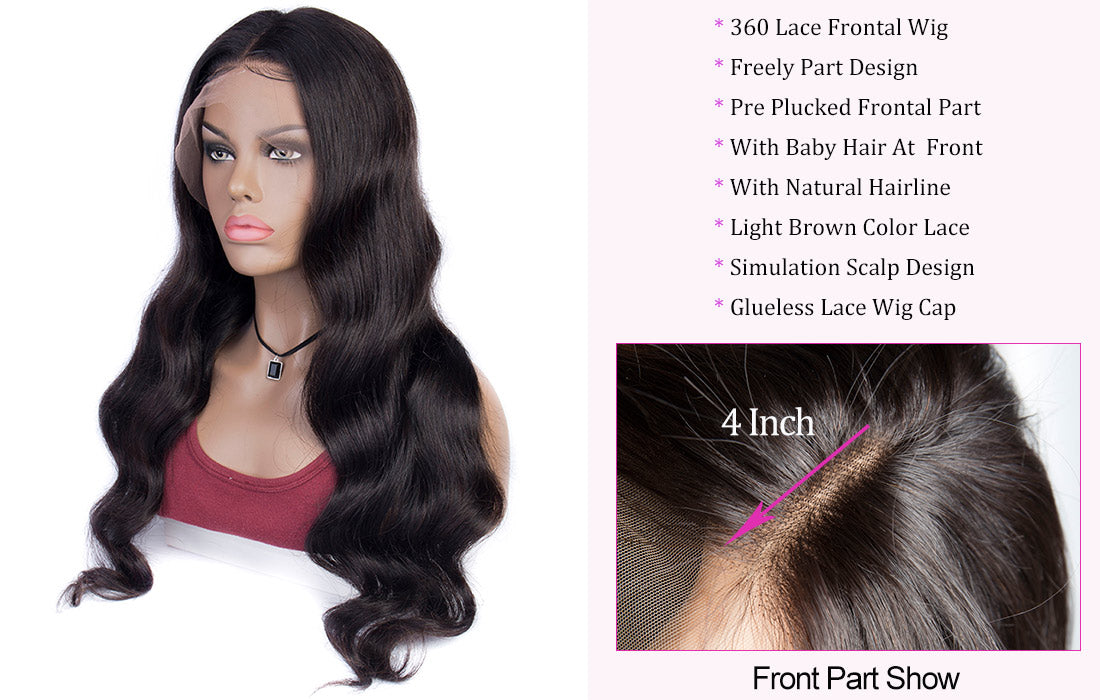 ms hair body wave 360 lace wigs new hairline show in description