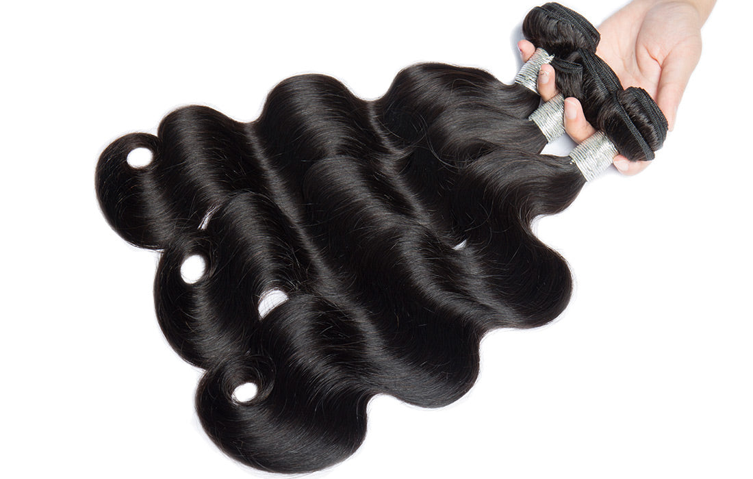 remy body wave human hair 3 bundles image show in description
