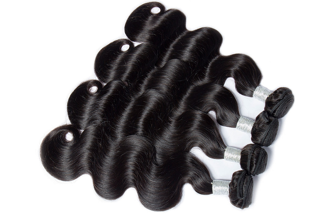 remy body wave human hair 4 bundles show in description