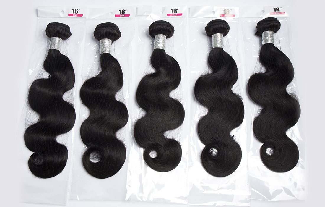 remy body wave human hair bundles real image show in description