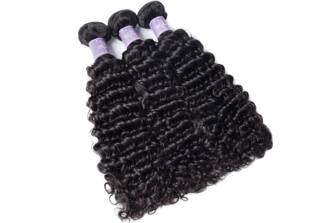 Remy curly hair bundles 3 pcs show in description