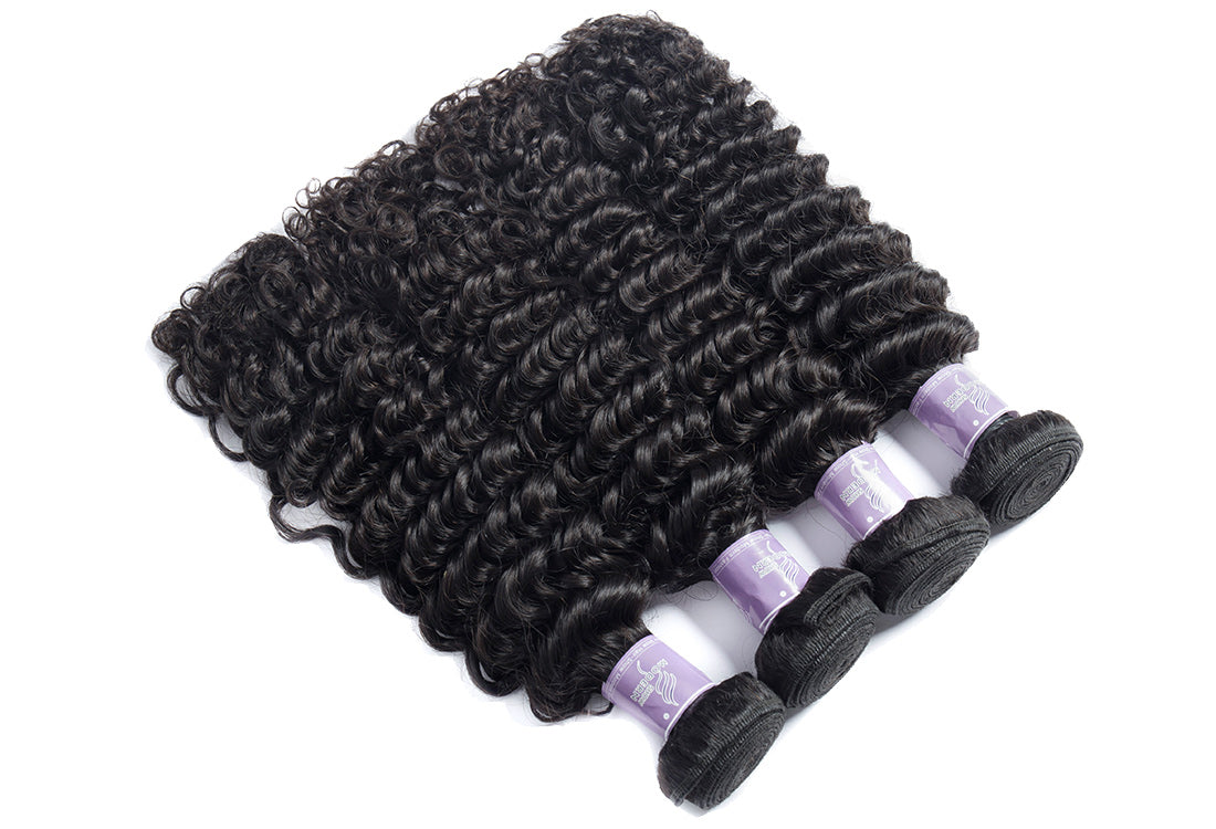 Remy curly hair bundles 4 pcs show in description