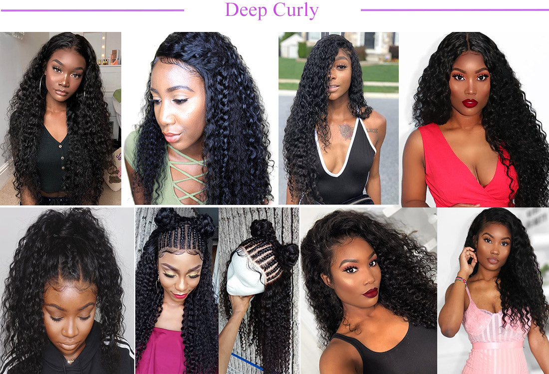 remy curly hair customer show in description