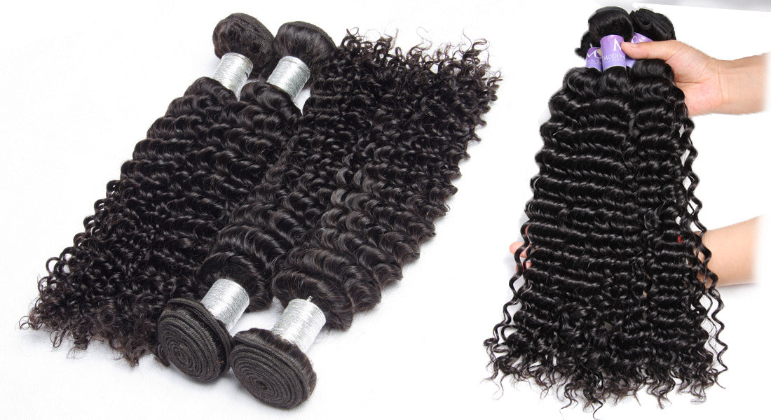 remy curly hair bundles real image show in description