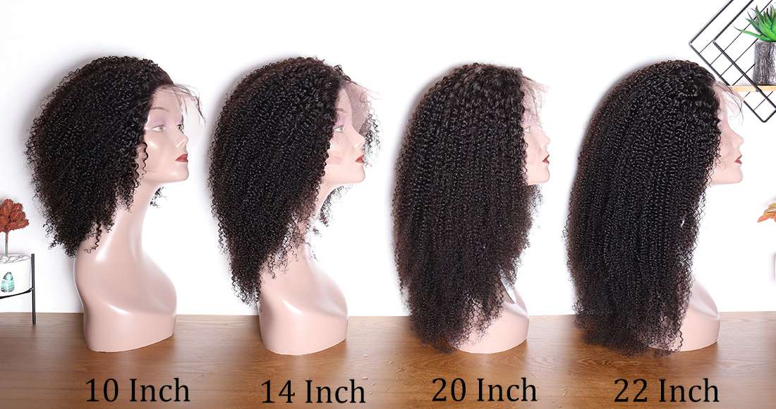 Peruvian Hair Wig 150 Density Kinky Coily Pre Plucked Lace Front Wigs With Baby Hair Kinky Curly Human Hair Wig Modernshow
