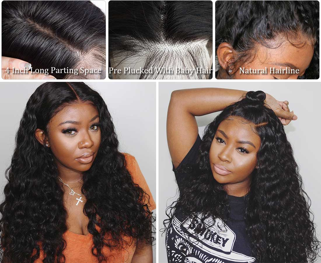 ms new water wave hair 360 lace wigs hairline show and customer share in description