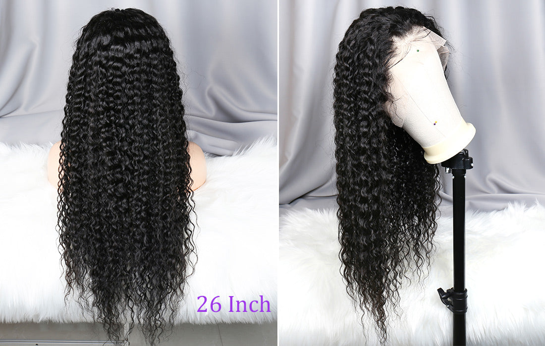 ms remy human hair curly 13x6 transparent lace front wigs side show in description