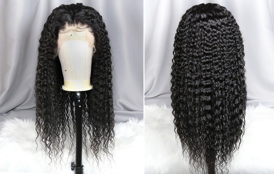 ms remy human hair curly 13x6 transparent lace front wigs real image show in description