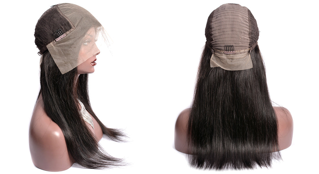ms remy hair 13x6 transparent lace front wigs straight wigs side cap show in description