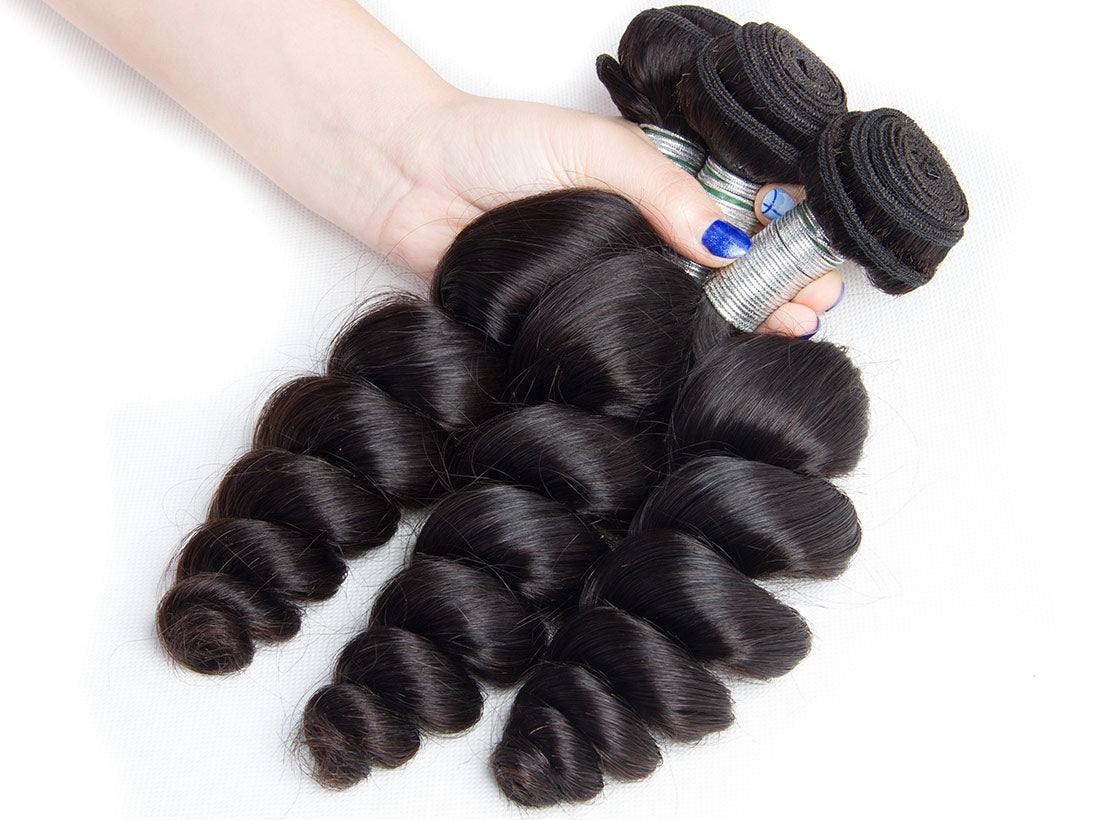 remy loose wave human hair bundles 3 pcs show in description