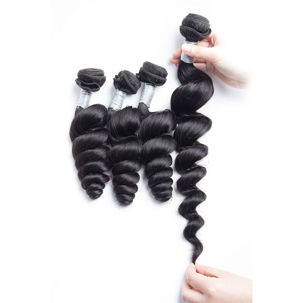 remy loose wave human hair bundles stretch in description