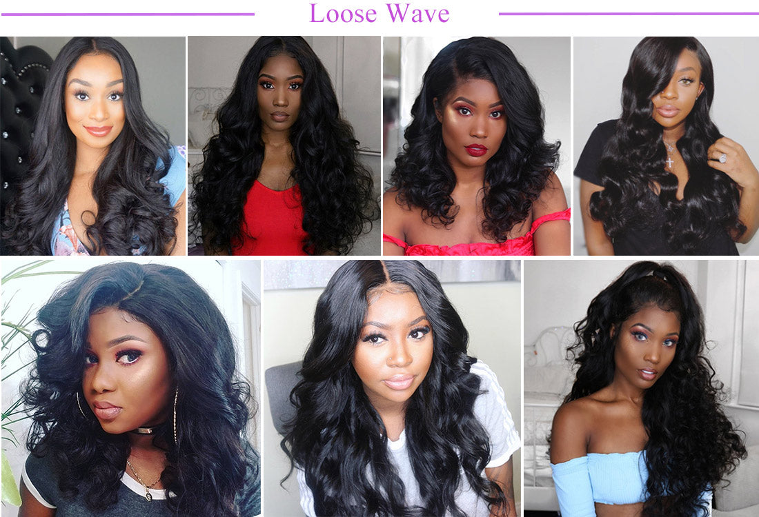 remy loose wave human hair bundles customer show in description