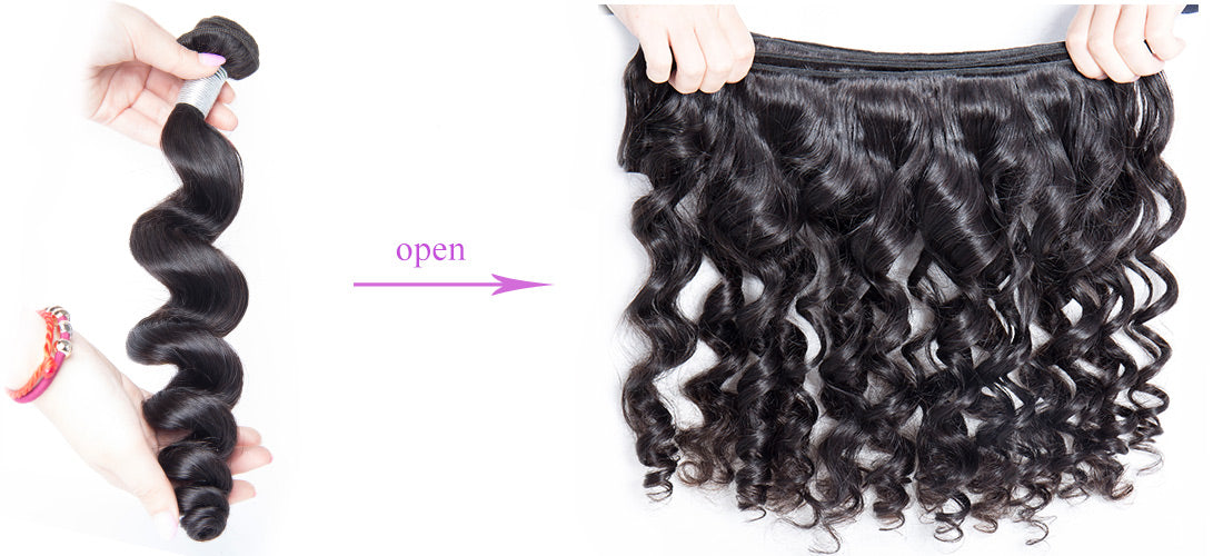remy loose wave human hair bundles hair weft show in description